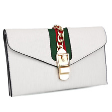 933baf4d12c4 Womens Envelope Fashion Bag Gucci Pattern Purse Clutch Bags Wristlet Wallet
