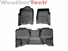 WeatherTech FloorLiner for Silverado/Sierra Ext Cab - 1st/2nd Row - Black