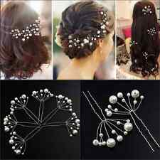 Hot Fashion Women Ladies Bridal Wedding Pearls Headband Hair Clip Comb Jewelry