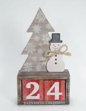 Count Down to Christmas Snowman & Tree Advent Calendar Blocks