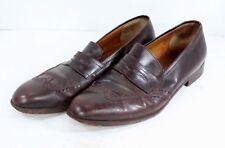 Salvatore Ferragamo Mens 10.5 Brown Leather Slip On Loafer Dress Shoes