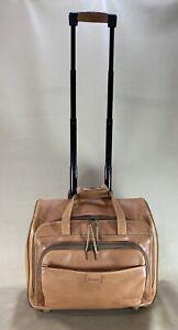 "Hartmann Belting Leather Luggage 17"" wheeled Carry-On Duffle Weekender Bag Rare"