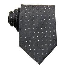 Black White Floral 3.4'' 100% Silk Jacquard Classic Woven Man's Tie Necktie FS01