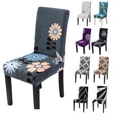 Спандекс стрейч цветочный сиденье стул чехол чехол столовая свадьба декор горячий