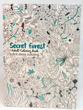 Oceanis Adult and Teen Coloring Book Secret Garden Forest Theme