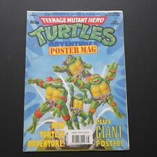 1990 Teenage Mutant Hero Ninja Turtles TMNT Poster Magazine #18 5th octobre 1990
