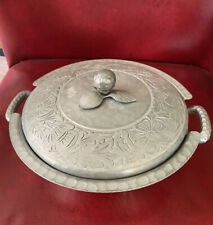Vintage Everlast Metal Forged Aluminum Hammered Covered Casserole Bowl Dish Pan