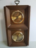 Wall Barometer Thermometer Humidity Meter Springfield Instrument Co Vintage