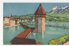 Switzerland, Luzern, Kapellbrucke und Rigi Postcard, B209