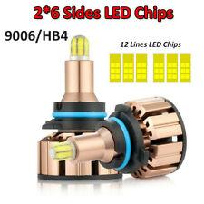 6/12-Side CSP 9006 HB4 LED Headlights Bulbs Kits Fog Lights 6000K White 460000LM