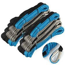 New ListingSynthetic Winch Rope 82ft-164ft Blue/Black Extension Rope Winch Cable