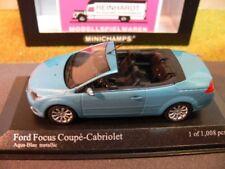 1/43 Minichamps Ford Focus coupe cabriolet 2007 metalizado azul