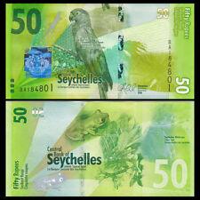 Seychelles 50 Rupees, 2016, P-NEW, NEW DESIGN, Bird, UNC