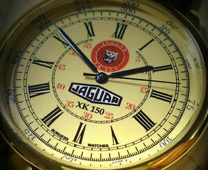 Jaguar XK150 Souvenir Tribute Wrist Watch, Retro early 1950's Style Round Dial
