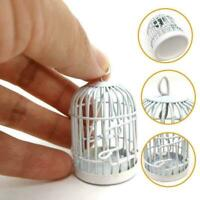 1:12 Simulation Puppenhaus Miniaturen Vogelkäfige Weiße offene Türen emaill U3E7