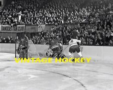 1964 NEW YORK RANGERS  MONTREAL CANADIENS 8 X 10 HOCKEY PHOTO PLANTE & BELIVEAU
