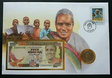 Zambia President Kenneth Kuanda 1983 Famous FDC (banknote coin cover) *Rare