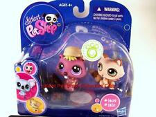 Littlest Pet Shop Tan RACCOON & Plum BEAVER lot #1409 & #1410 Rare Retired NIB