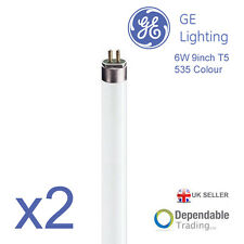 2 x GE Branded  6w 9inch 225mm Colour 35 White T5 Fluorescent Tube