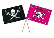 "12x18 12""x18"" Wholesale Combo Pirate Brethren Coast & Pink Princess Stick Flag"