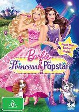 Barbie: The Princess and The Popstar * NEW DVD * Animation (Region 4 Australia)