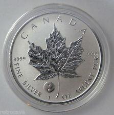 2016 Canadian 1 oz Silver Maple Leaf Yin Yang Privy .9999 Silver Bullion Coin