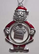 ED Friends Forever 3D Santa Claus Christmas Ornament Ganz Car Charm