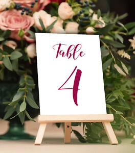 1-25 Wedding Table Numbers Calligraphy Design Table Centerpieces DIY Place Cards