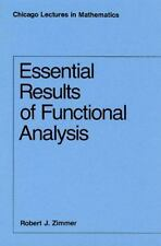 Essential Results of Functional Analysis by Robert J. Zimmer (1990, Paperback)