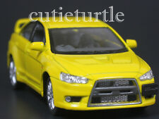 Kinsmart 2008 Mitsubishi Lancer Evolution EVO X 1:36 Diecast Toy Car Yellow
