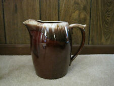 VINTAGE BROWN PITCHER WITH ICE CATCHER --USA--7011