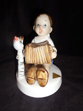 """Young Boy Playing the Accordian"" Royal Dux Bohemia Pink Triangle 4 1/2"" Figure"