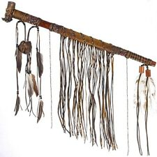 Deer Antler Bowl Trade Beaded Fringed  Peace Pipe