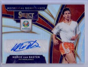 2019-20 PANINI SELECT MARCO VAN BASTEN HISTORICAL AUTO NETHERLANDS LEGEND SILVER
