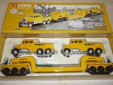 Corgi, CC 17702, 2 Scammell constructors & 24 wheel low loader, Wimpey. boxed