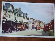 Main Street Pitlochry Craigower Hotel old Motor cars, Davidson's PC, G Condition
