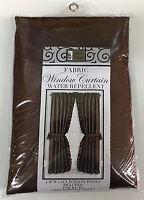 "RUFFLED DOBBY DOT WINDOW CURTAIN & TIEBACKS 64"" WIDE X 54"" LONG"