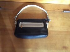 Danier Black Leather Wristlet Style Wallet / Accessory / Cosmetic Bag