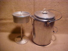 Coleman Aluminum 9 Cup Hiking Camping Percolator Coffee Pot