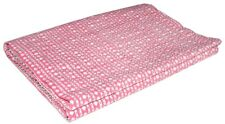 Indian Reversible Polka dot Kantha Quilt Red Double Blanket Throw Art