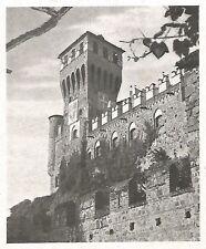 D0467 Pavone Canavese - Scorcio del Castello - Stampa d'epoca - 1940 old print