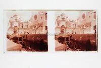 Venezia Italia Foto Amateur Placca Da Lente N2 Stereo Ca 1920