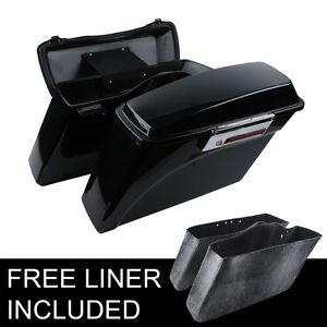 Black Hard Saddlebags Trunk Lid Latch Keys For Harley Road King Glide 1994-2013