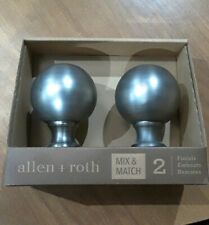 Allen and Roth 2 finials pewter new in package curtain rod accessories