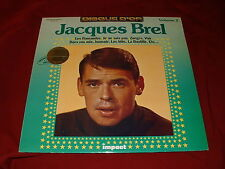 Jacques Brel LP Volume 2 Disque D'Or French Press Impact label 6886 150