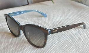 New Maui Jim Canna Sunglasses Havana on Blue Frames / HCL Bronze Lens MJ 769-03T