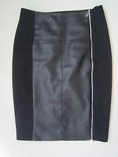 Karen Millen Faux Leather Panel Zip Skirt - UK 10