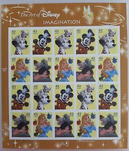 The Art of Disney Imagination US STAMP SHEET -- USA #4342-4345 2008