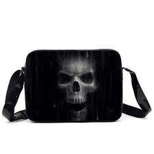 Gothic Black and White Skull The Watcher Side Bag by Anne Stokes