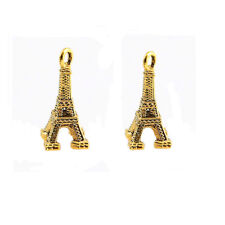 50Pcs Gold Eiffel Tower Charm Pendant DIY Necklace Jewelry Making Craft Gift